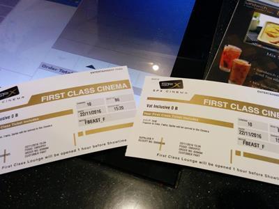 タイの映画館が大変おすすめ!時には至れり尽くせりのファーストクラスシートで映画はいかが?