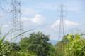 雲と鉄塔。入間川右岸、狭山市上奥富運動公園。2010/9/18 撮影。