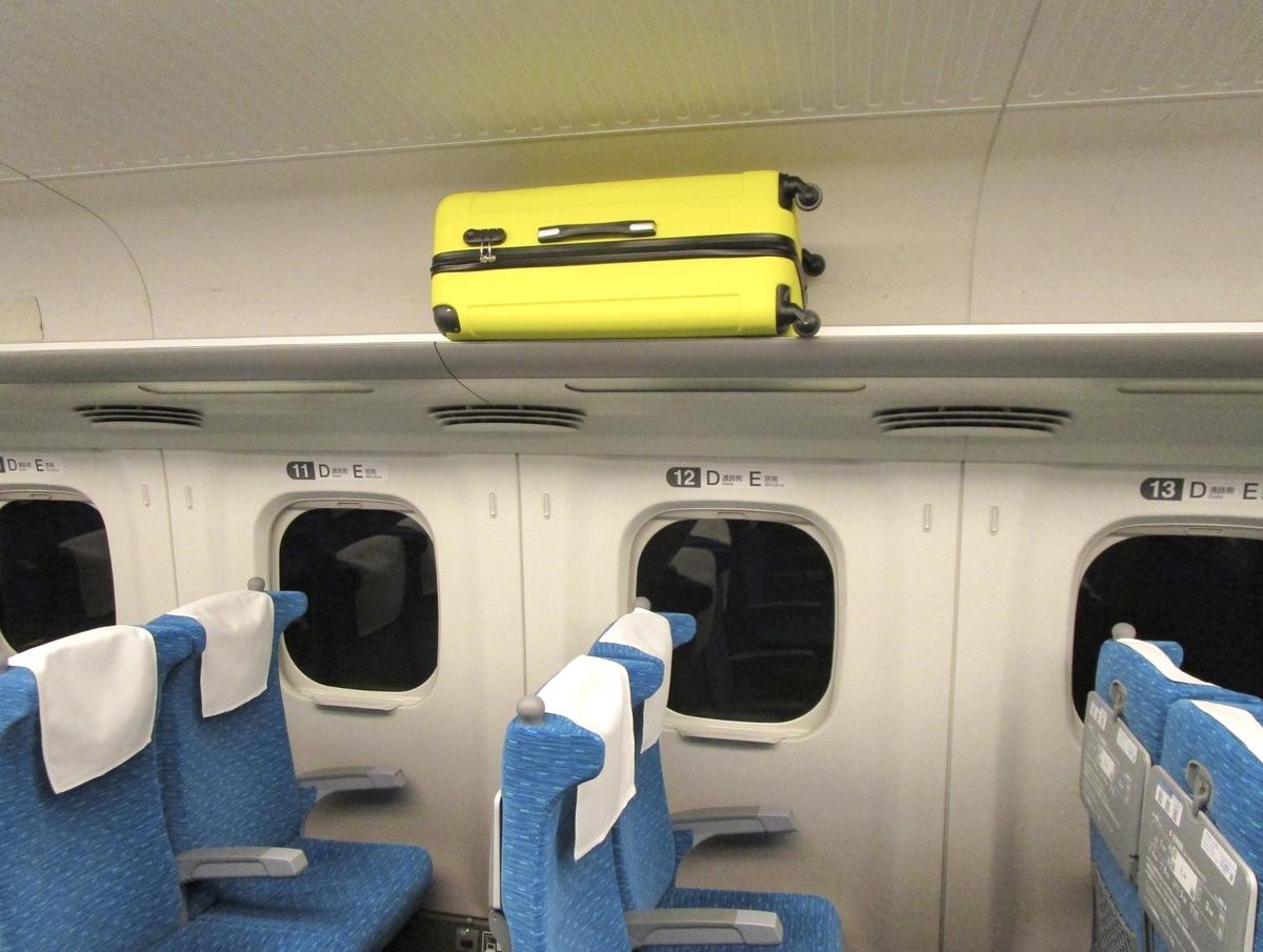 【検証】新幹線の棚に載せられる荷物について