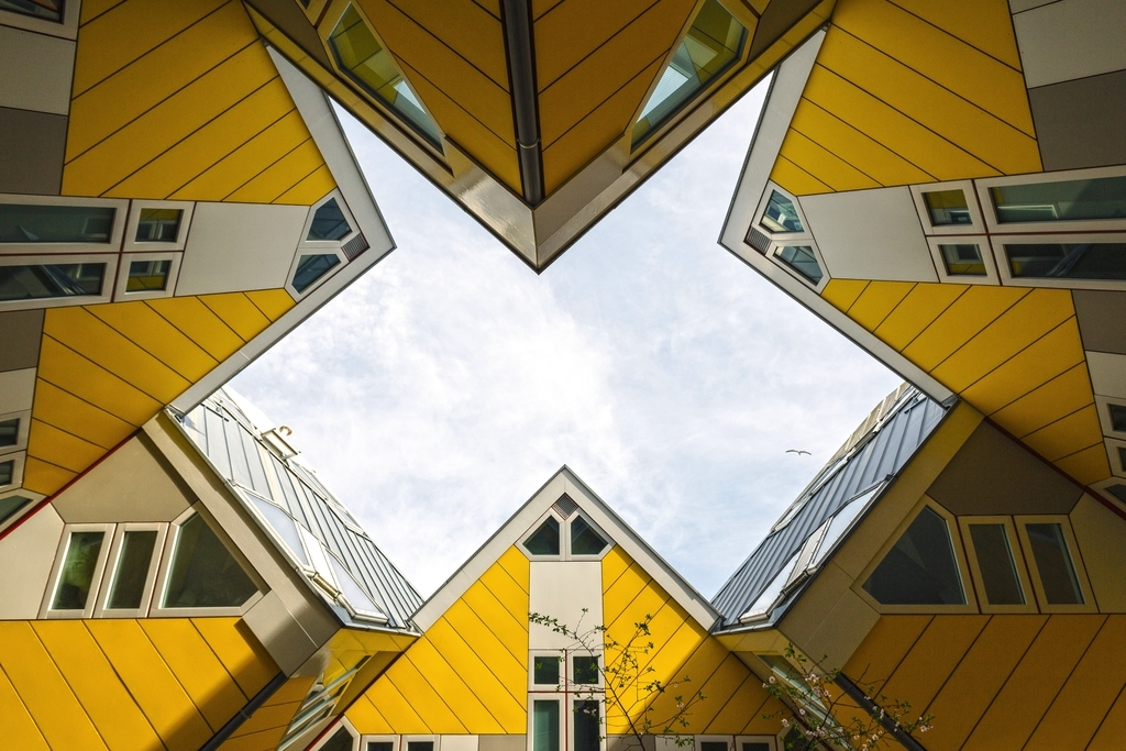Photo of cubed houses by Stas Knop from Pexels