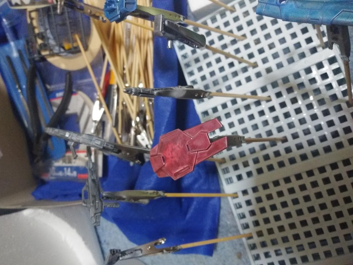 ガンプラ ビルドストライク ビルドブースター パーツ キャンディ塗装 パール塗装