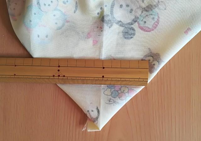巾着の作り方 マチを確保