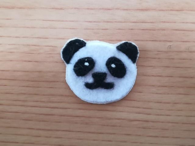 幼稚園用 手作りワッペン パンダ