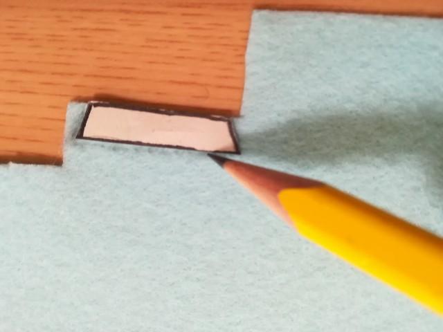 ワッペンの型紙を書き写す