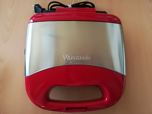 ビタントニオ ワッフル&ホットサンドベーカーVWH-30-R