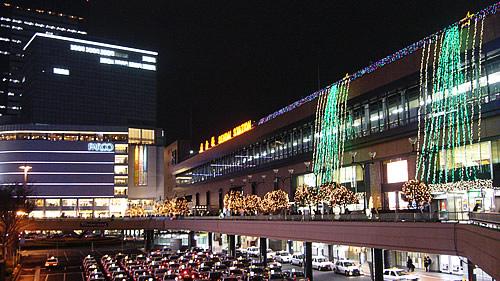 仙台駅のイルミネーション