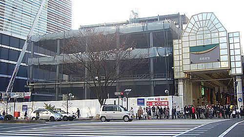 建築中の仙台ファーストタワー商業棟