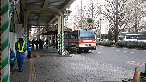 福島交通のバスが来た