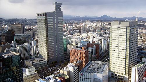 AERから仙台市北部を望む