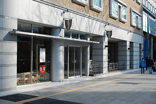 ライブラリーホテル東二番町入り口