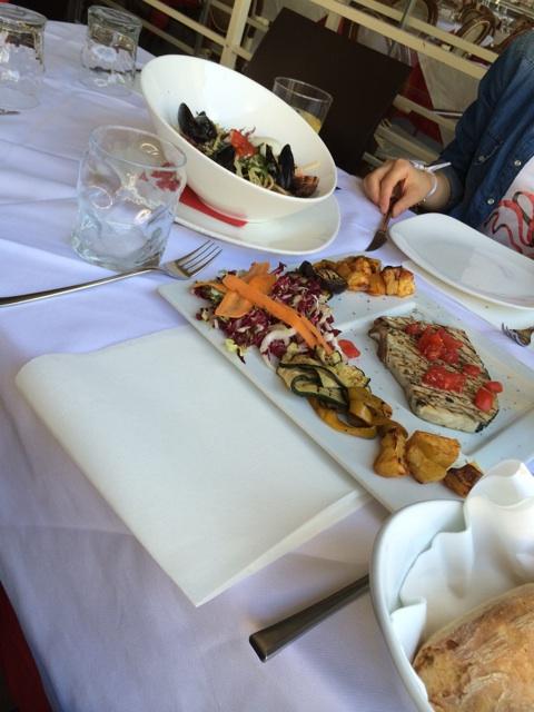 フィレンツェのレストランでオーダーした料理