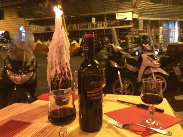 ローマのバールでワインを飲んだエピソード