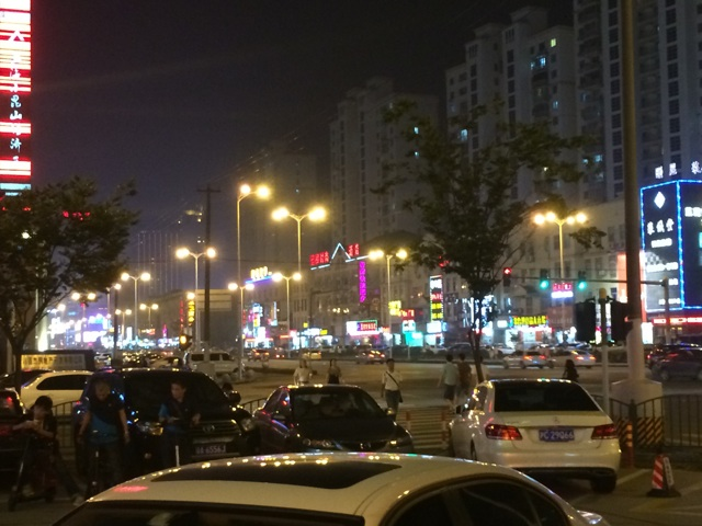 中国上海の夜