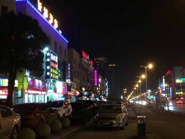上海の夜の郊外