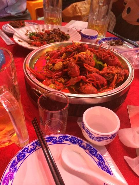 中国のザリガニ料理