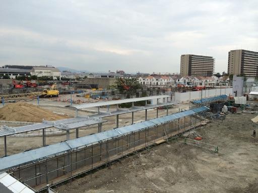 2015年8月にズットシティの開発地を塚口駅から写した写真