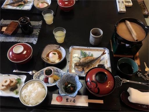岩井屋の朝食