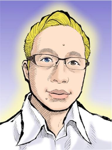 似顔絵ショウエイ作の千日のブログアイコン