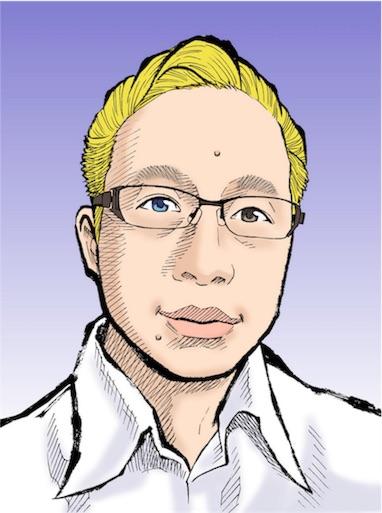 似顔絵ショウエイ作のブログアイコン、青年漫画風のタッチ