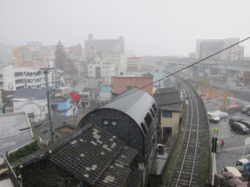 2018.02.10 佐世保市内も雪が降りました。