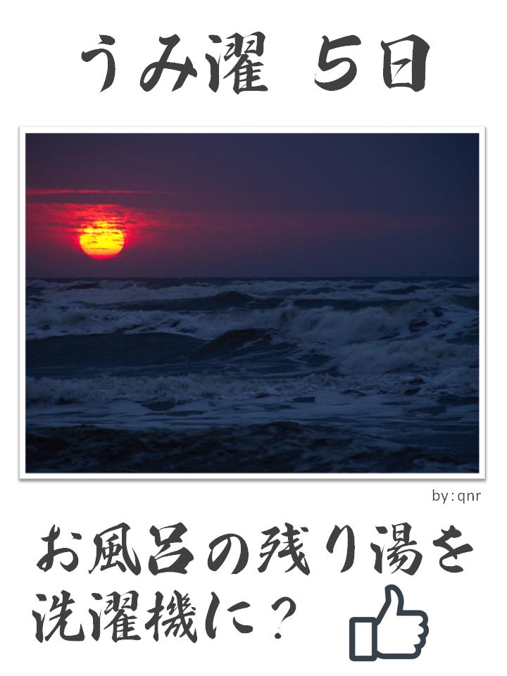 うみ濯(うみたく)5日