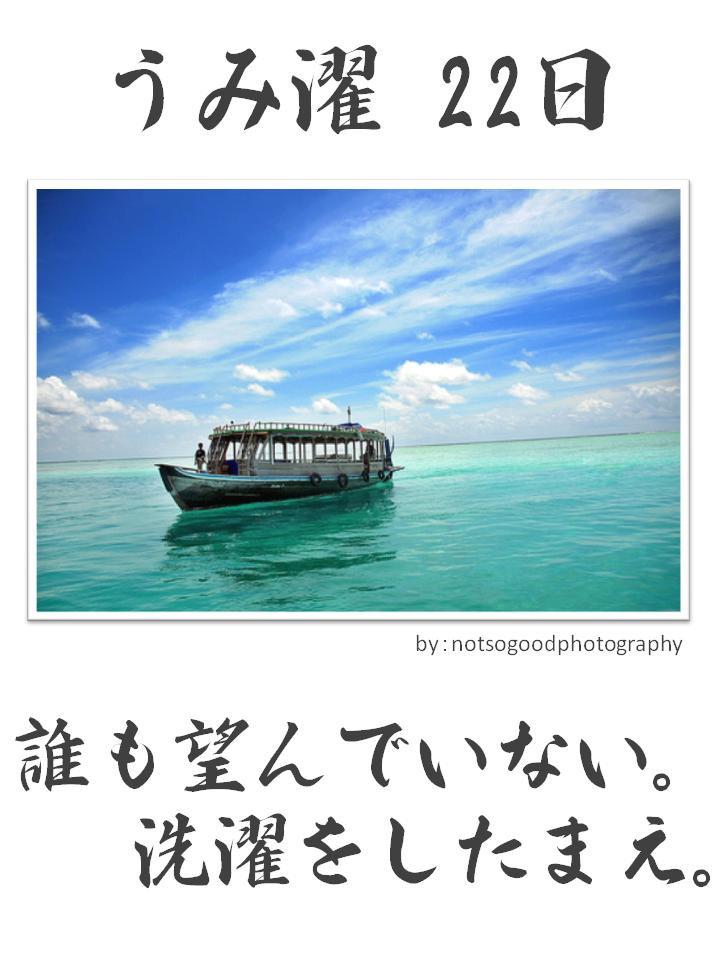 うみ濯(うみたく)22日