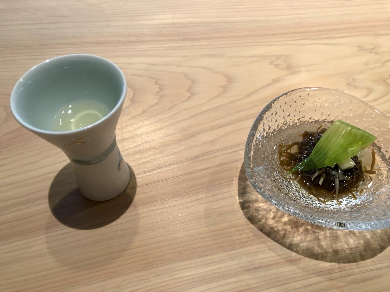 KIZAHASHIの迎え出汁と季節の前菜