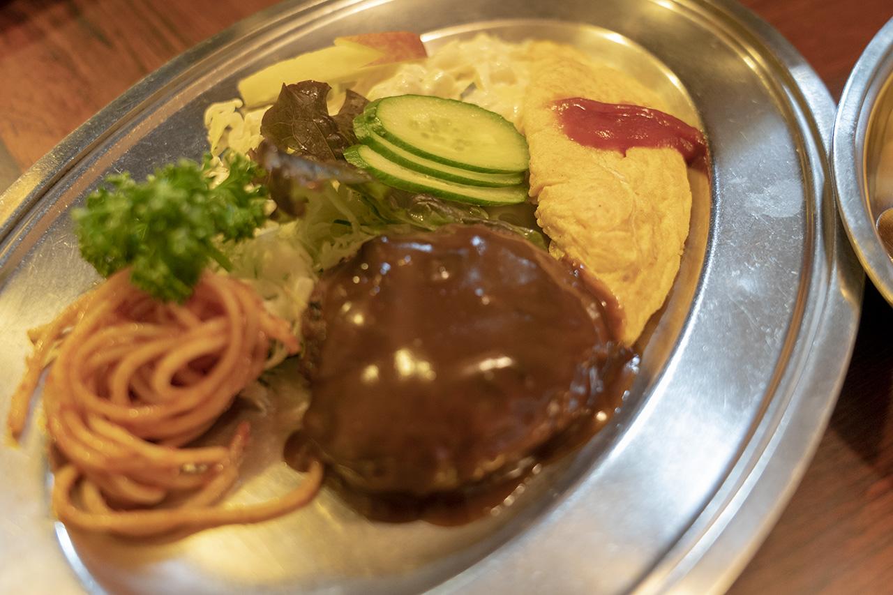 京都洋食ますやのハンバーグ