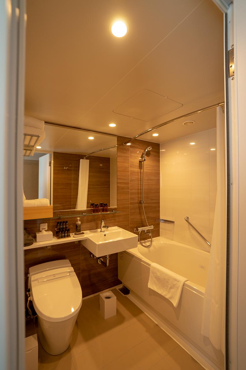 ホテルサンルート京都木屋町エグゼクティブコーナーダブルの浴室