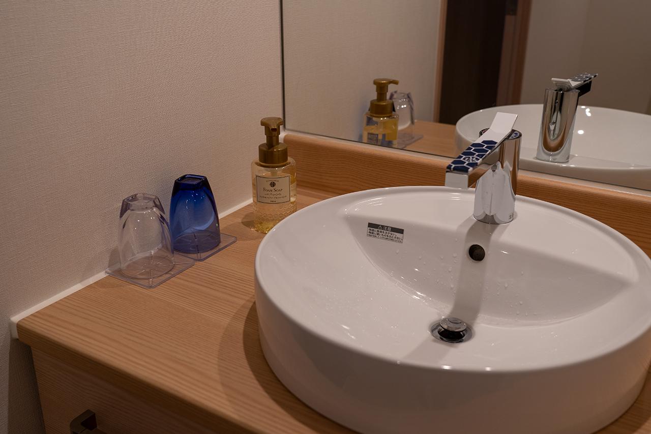 ホテルビスタプレミオ京都 和邸(なごみてい)の洗面台