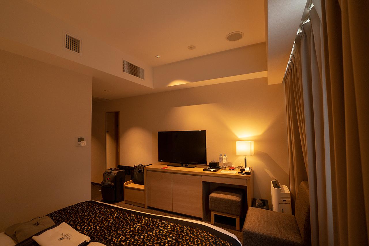 ホテルインターゲート京都四条新町のPの字型客室レイアウトの例