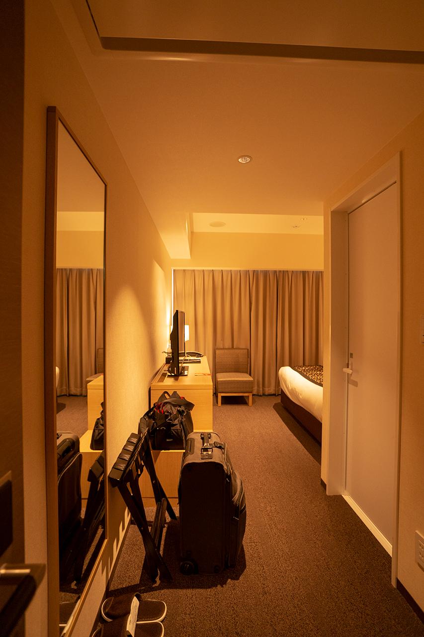 ホテルインターゲート京都四条新町の客室Pの字型レイアウト例