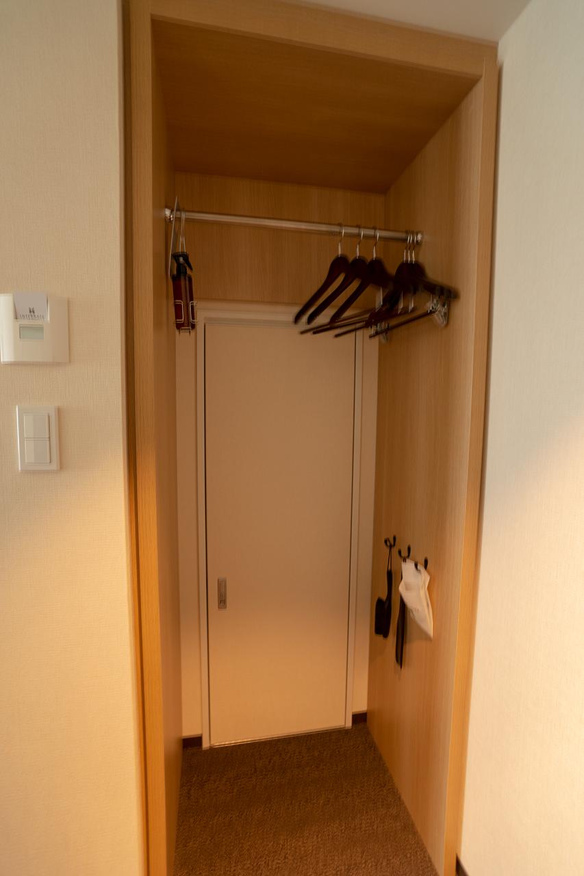 ホテルインターゲート京都四条新町客室のクローゼット