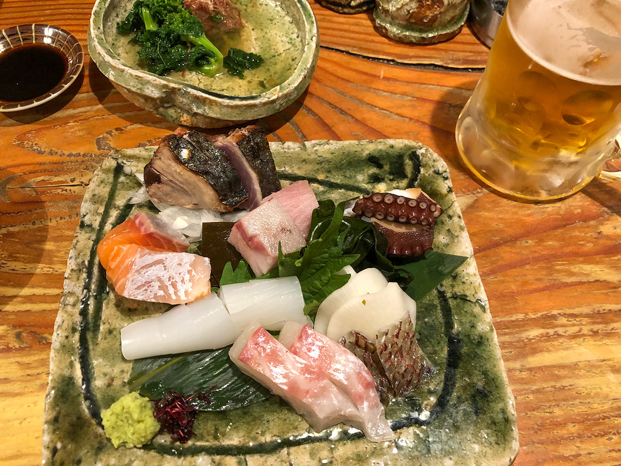 ホテルインターゲート京都四条新町近くの飲み屋〈円屋〉(えんや)お作り盛り合わせ