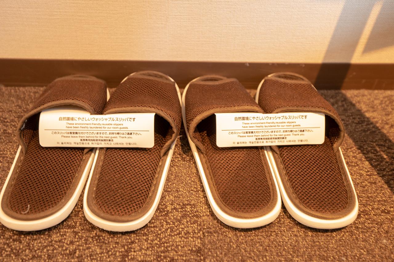 ホテルインターゲート京都四条新町の客室スリッパ