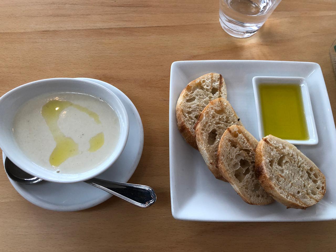パンとスープを別注文