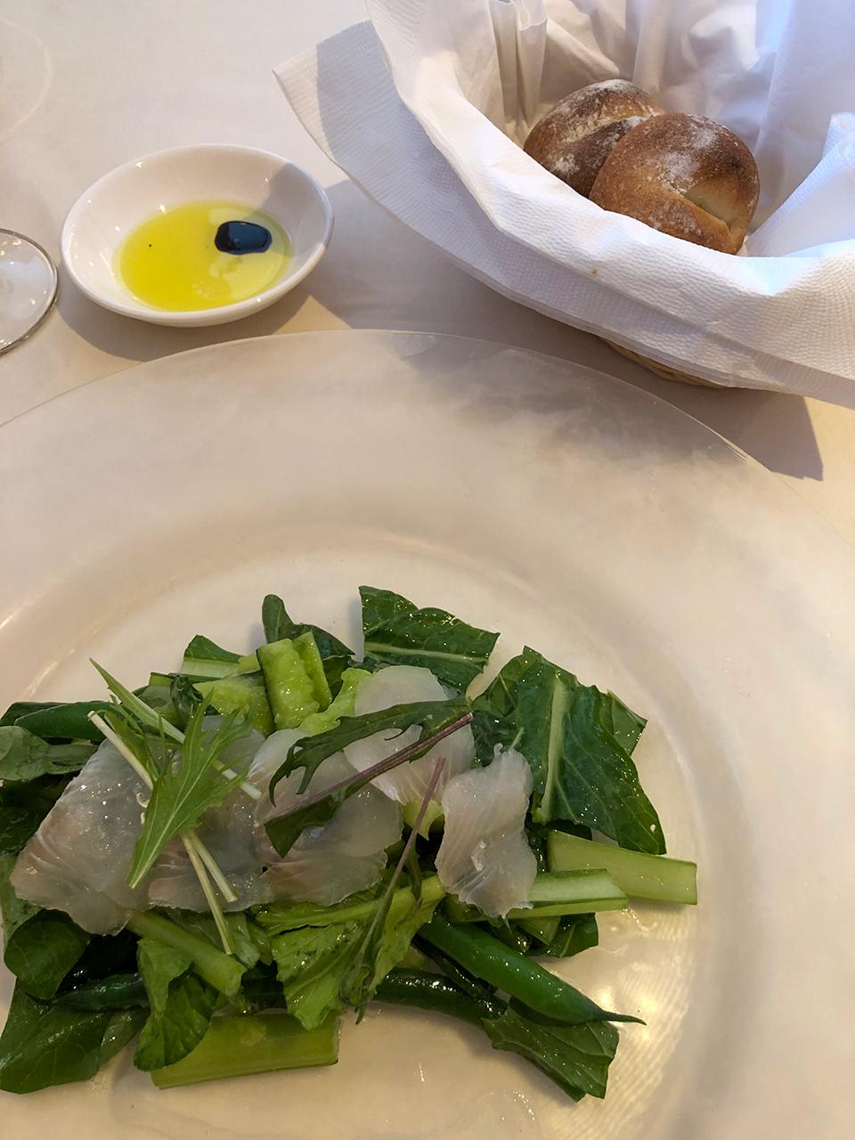 熱海テール・エ・メール(Terre et mer) 地野菜と地元産カレイのサラダ