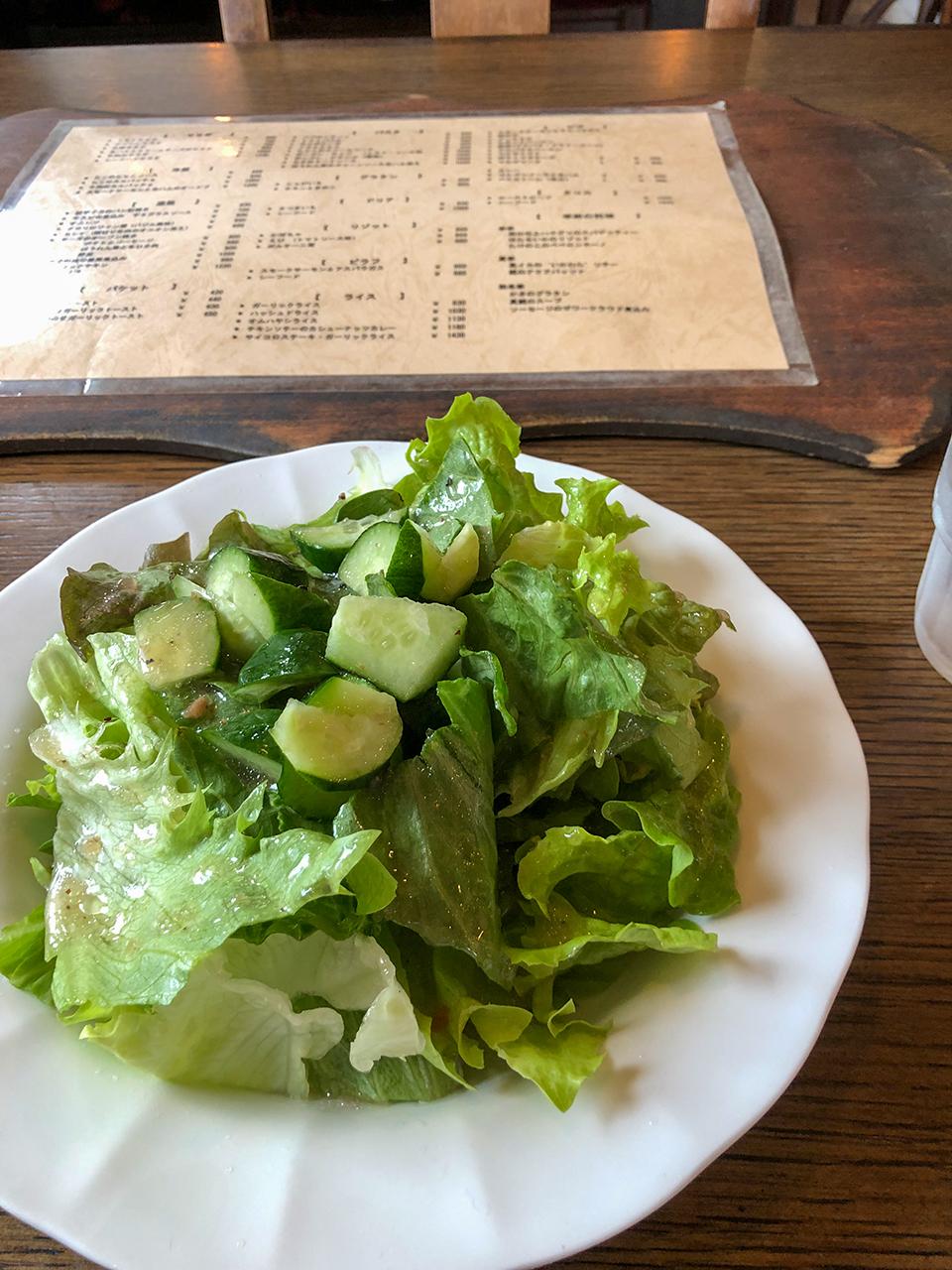 カフェ エフェメラ(Cafe Ephemera)のサラダ