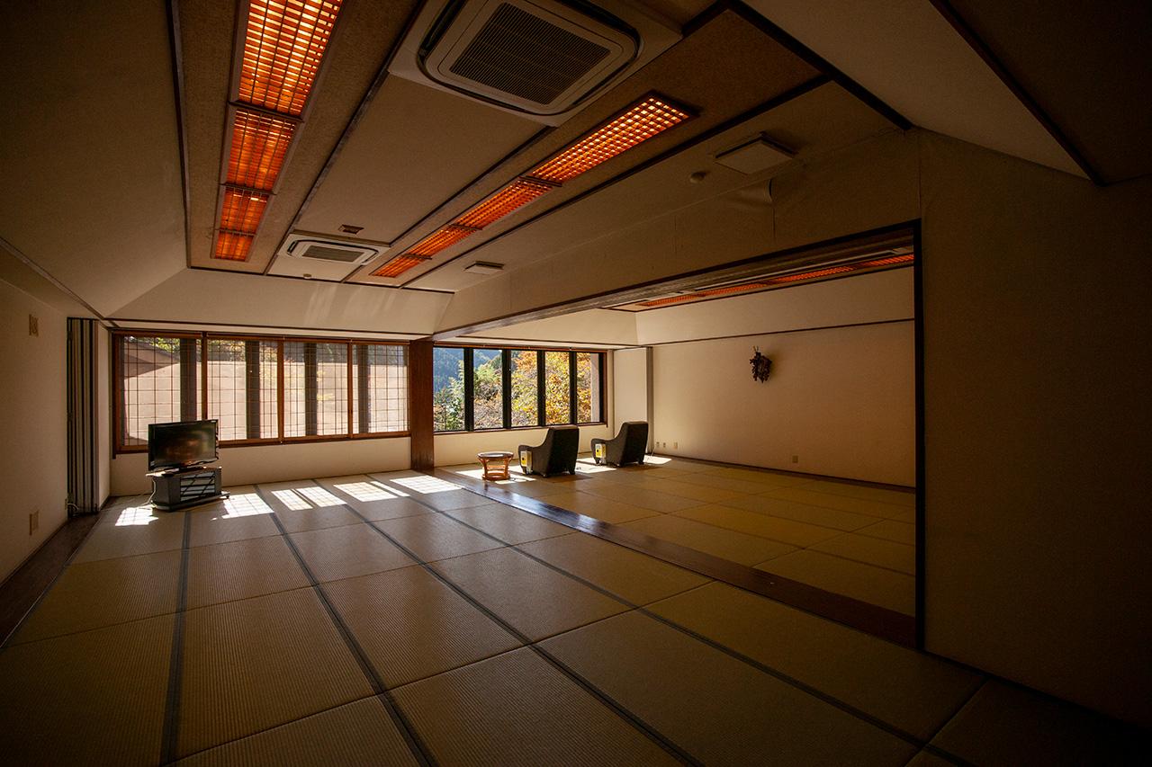 京都〈くらま温泉〉2階の大広間