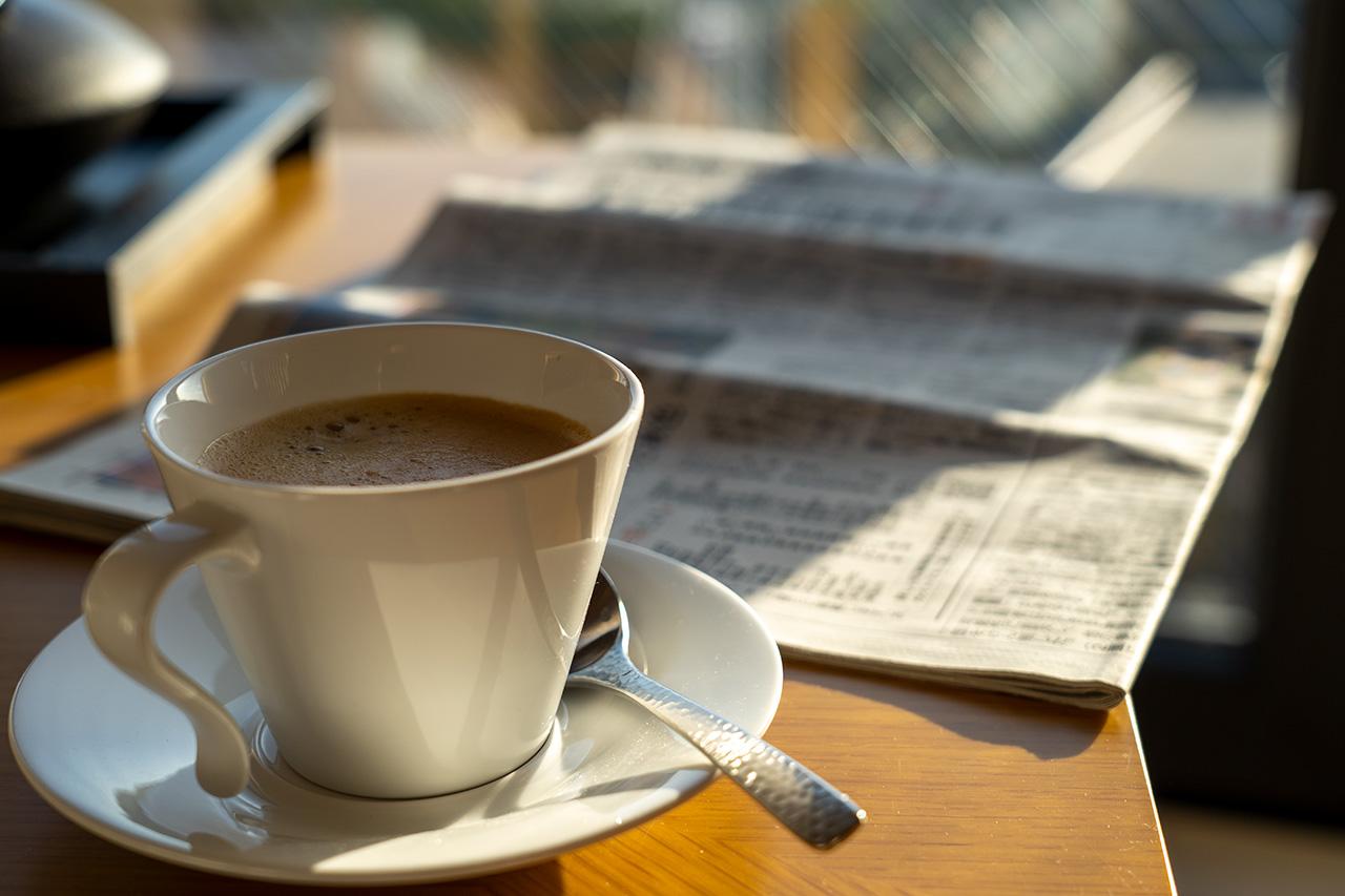 コーヒーポーションを使った〈NESPRESSO〉のコーヒーマシン