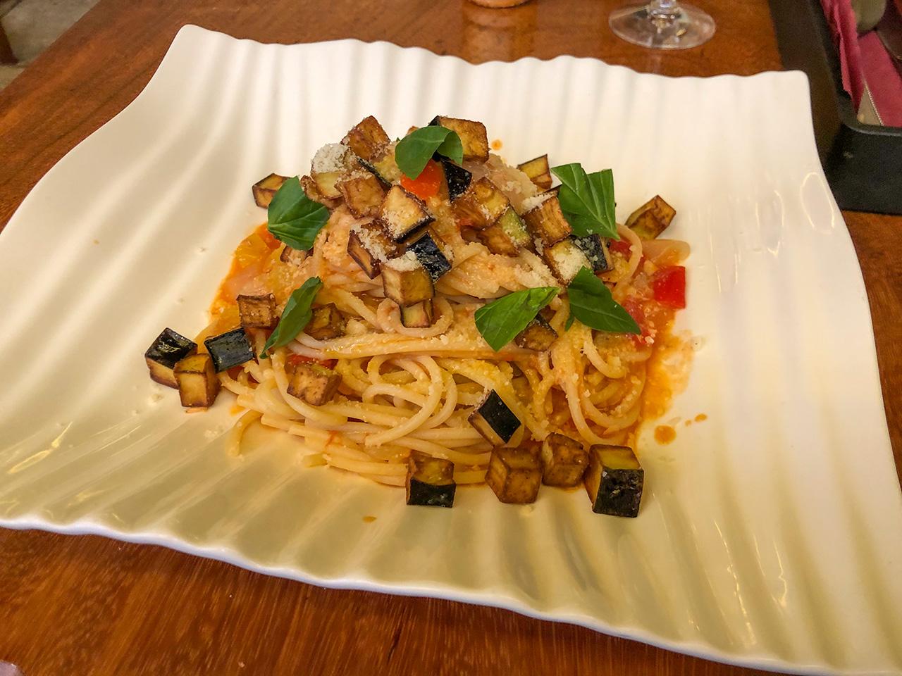 マルツォ(Pizzeria Italiana MARZO)の揚げ茄子とツナのシシリア風スパゲッティ