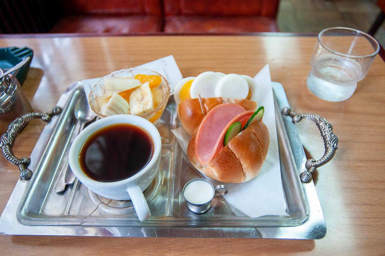 広島・純喫茶パールのモーニングセット