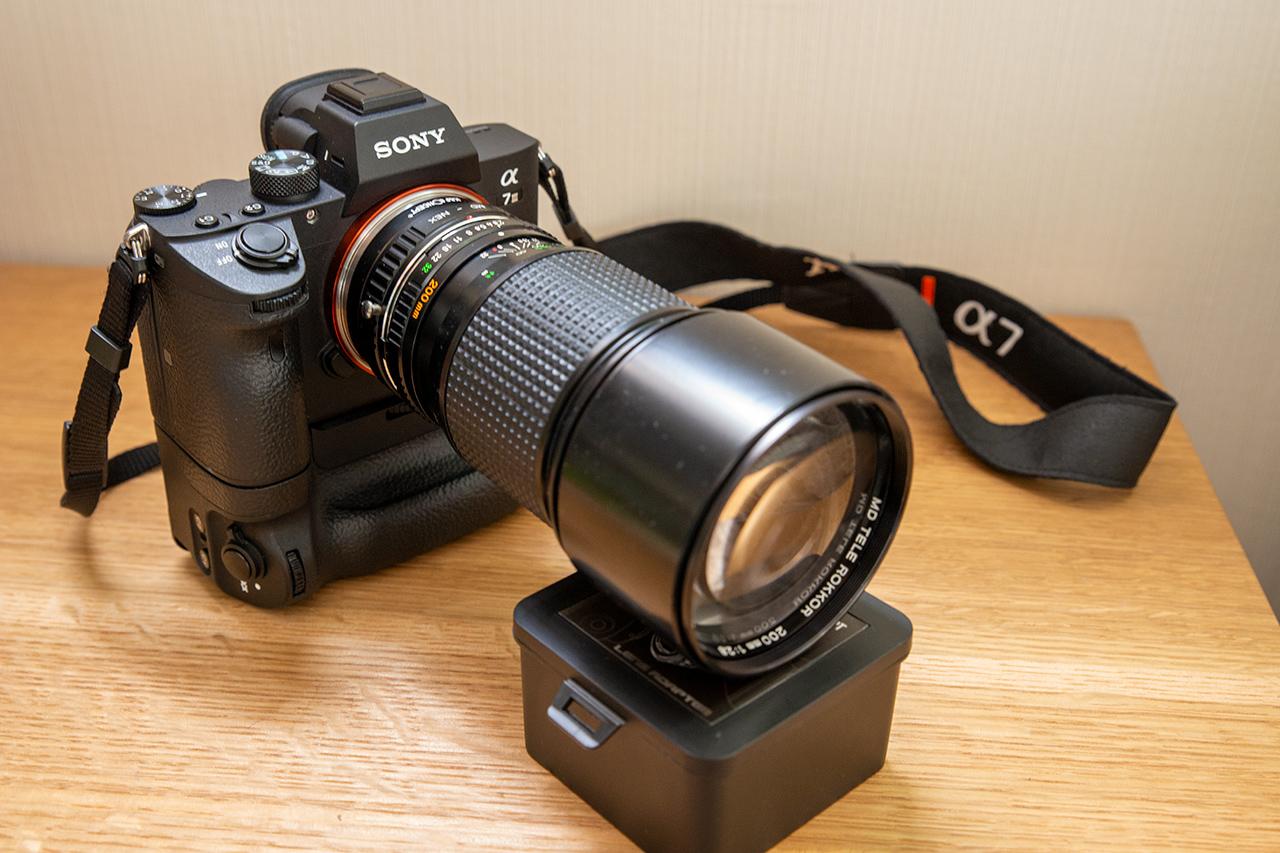 SONY α7IIIとMINOLTA MD TELE ROKKOR 200mm F2.8