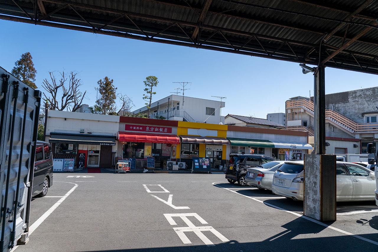 川崎幸市場の食堂棟