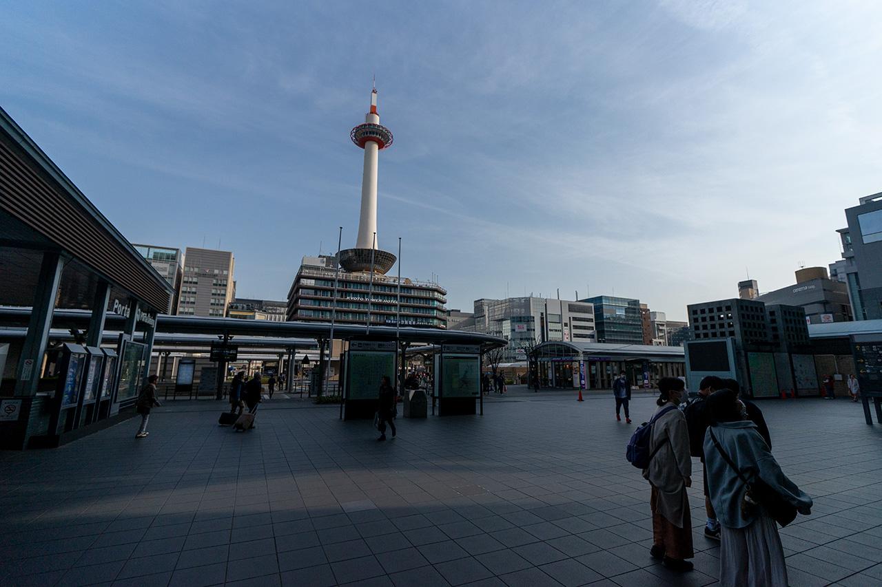 2020年3月22日(日)8:07の〈JR京都駅烏丸口〉