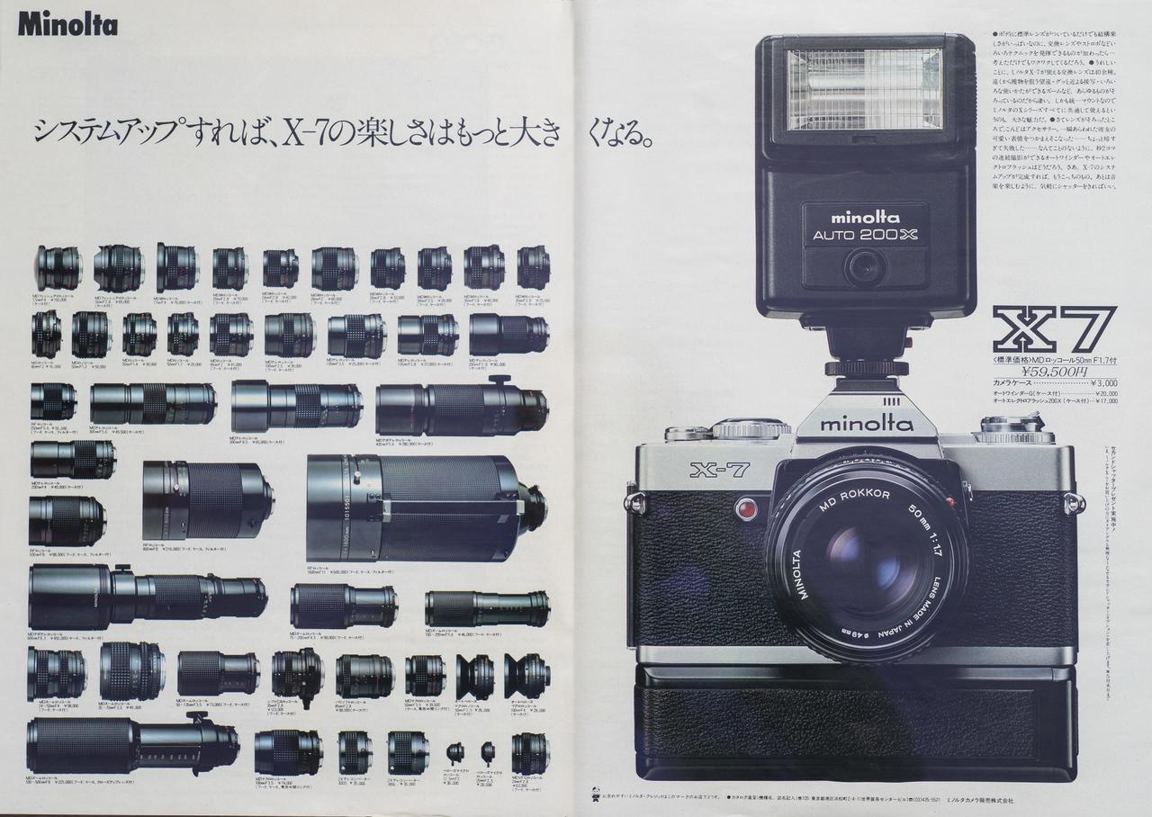 ミノルタ、1980年の広告