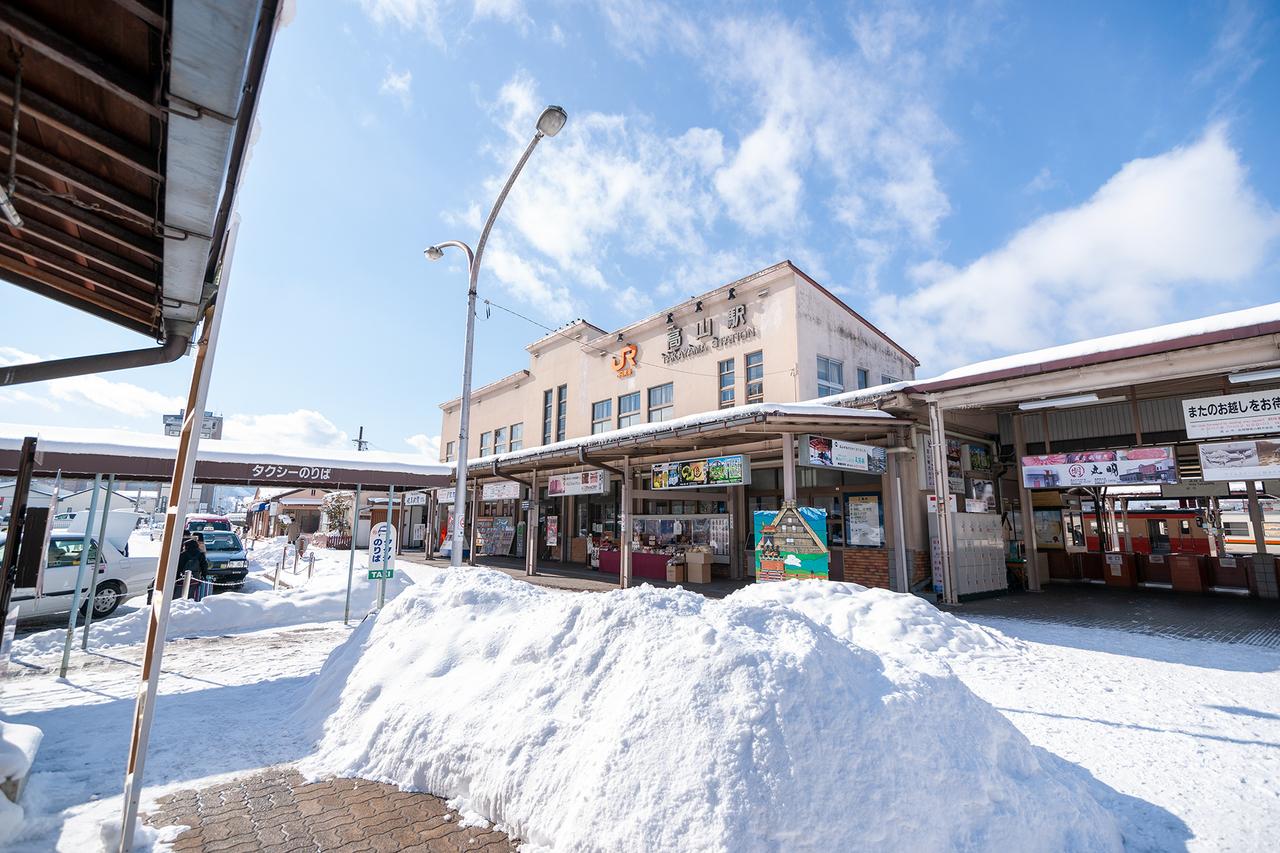 2012年・雪のJR高山駅