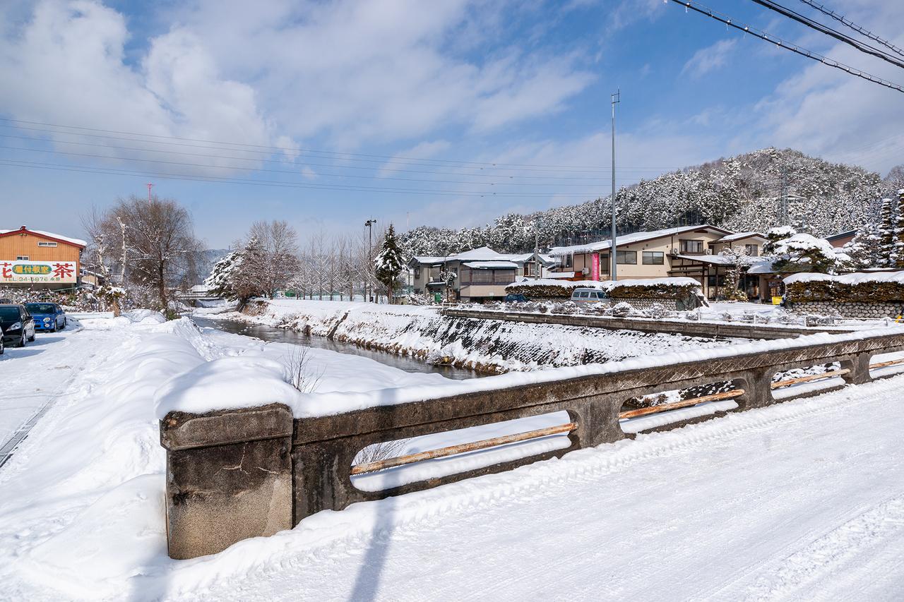 雪景色の斐太高校への道