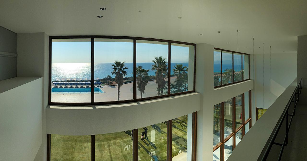 大磯プリンスホテルの温泉〈THERMAL SPA S.WAVE〉3Fラウンジからの眺め