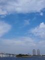 お台場と飛行機雲